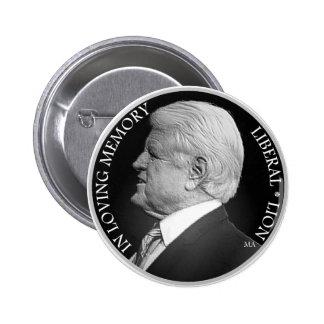 Botón de la circular de Edward Kennedy B&W Pin Redondo De 2 Pulgadas