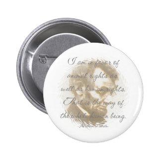 Botón de la cita de Abraham Lincoln Pins