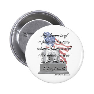 Botón de la cita de Abraham Lincoln Pin Redondo De 2 Pulgadas