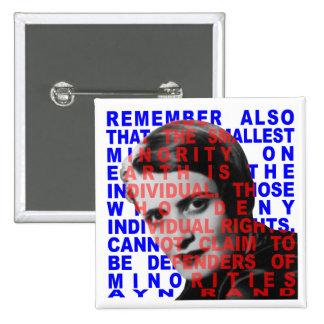 Botón de la cita de Ayn Rand