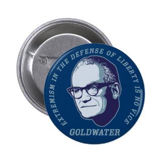 Botón de la cita de Goldwater Pin Redondo De 2 Pulgadas