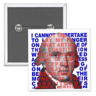 Botón de la cita de James Madison Pin