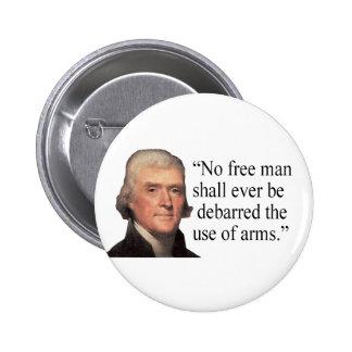 Botón de la cita de Jefferson Pin Redondo De 2 Pulgadas