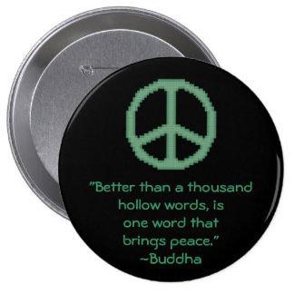 Botón de la cita de la paz de Buda Pins