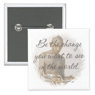 Botón de la cita de Mahatma Gandhi
