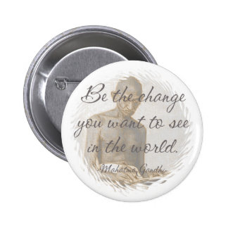 Botón de la cita de Mahatma Gandhi Pin