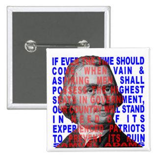 Botón de la cita de Samuel Adams Pins