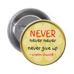 Botón de la cita de Winston Churchill Pin Redondo De 2 Pulgadas