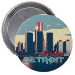 Botón de la ciudad de Detroit Pin Redondo De 4 Pulgadas