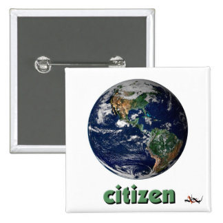 Botón de la ciudadanía pin cuadrado