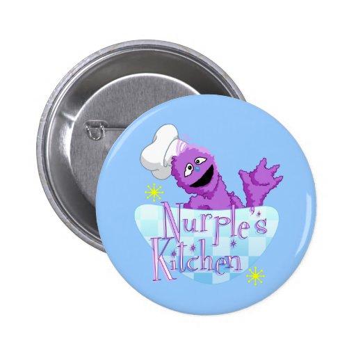¡Botón de la cocina de Nurple (azul)! Pin Redondo 5 Cm