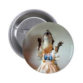 Botón de la comadreja de Juanita Pin Redondo De 2 Pulgadas