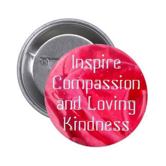 Botón de la compasión pin redondo de 2 pulgadas