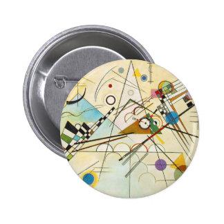 Botón de la composición VIII de Kandinsky Pin