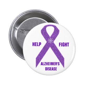 Botón de la conciencia de Alzheimer Pin Redondo De 2 Pulgadas