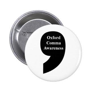 Botón de la conciencia de la coma de Oxford Pin