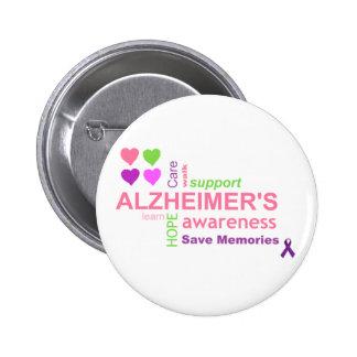 Botón de la conciencia de la enfermedad de Alzheim Pin Redondo De 2 Pulgadas