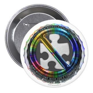 Botón de la conciencia del autismo de UnPuzzled Pins
