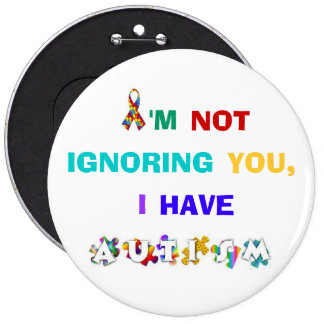 Botón de la conciencia del autismo del arco iris pins