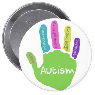 Botón de la conciencia del autismo pin redondo de 4 pulgadas