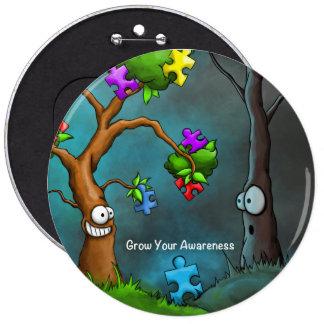 Botón de la conciencia del autismo pin redondo de 6 pulgadas