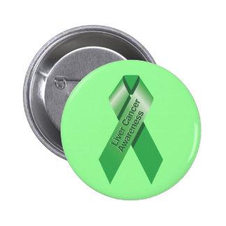Botón de la conciencia del cáncer de hígado pin redondo de 2 pulgadas