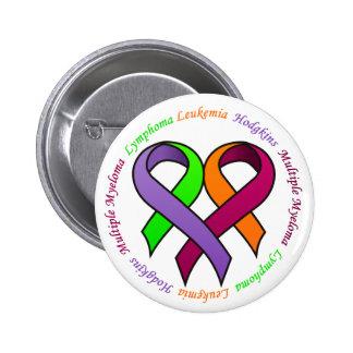 Botón de la conciencia del cáncer de sangre - 1 pin redondo de 2 pulgadas