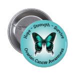 Botón de la conciencia del cáncer ovárico pin