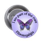 Botón de la conciencia del Fibromyalgia Pin Redondo De 2 Pulgadas