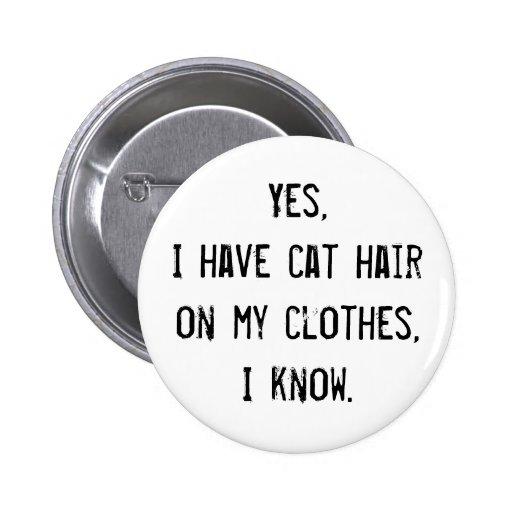Botón de la conciencia del pelo del gato pins