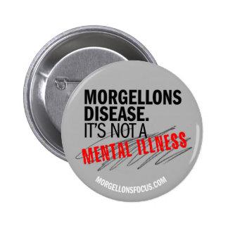 Botón de la conciencia - gris pin redondo de 2 pulgadas