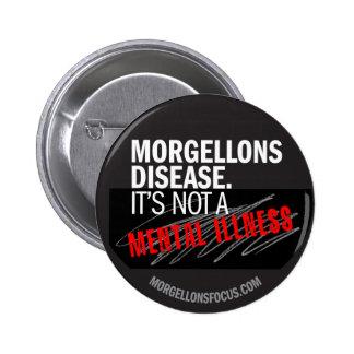 Botón de la conciencia - negro pin redondo de 2 pulgadas