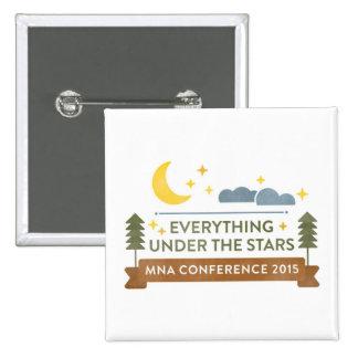 Botón de la conferencia de MNA Pin Cuadrado