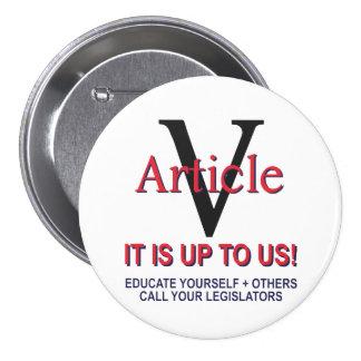 botón   de la constitución del artículo 5 del pin redondo de 3 pulgadas