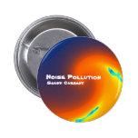 Botón de la contaminación acústica pins
