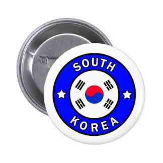 Botón de la Corea del Sur Pin Redondo De 2 Pulgadas