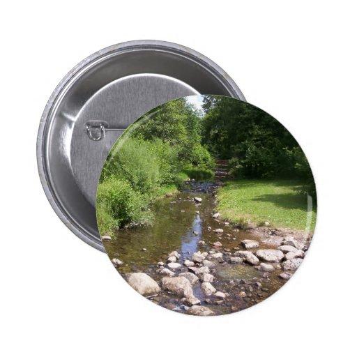 Botón de la corriente pin redondo de 2 pulgadas