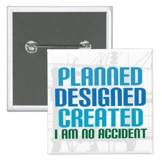 Botón de la creación: Planeado diseñado creado Pin Cuadrado