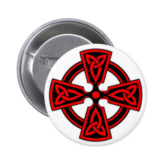 Botón de la cruz céltica pins
