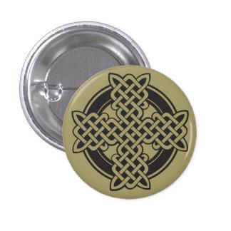 Botón de la cruz céltica pin redondo de 1 pulgada