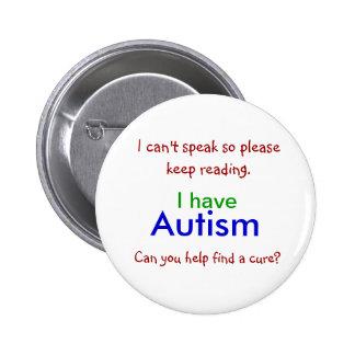 Botón de la curación del autismo pin redondo de 2 pulgadas