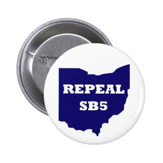 Botón de la derogación SB5 - azul Pins