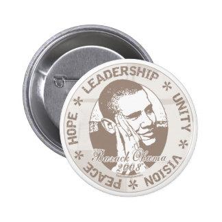 Botón de la dirección de Obama Pin Redondo De 2 Pulgadas