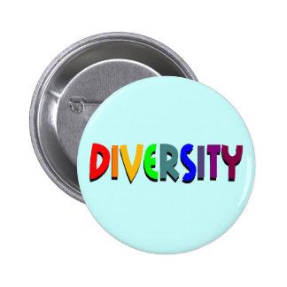 Botón de la diversidad pin redondo de 2 pulgadas