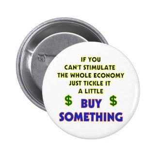 Botón de la ECONOMÍA Pin Redondo De 2 Pulgadas