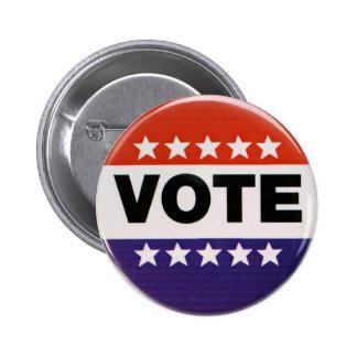 Botón de la elección del voto pin redondo de 2 pulgadas