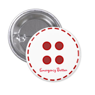 Botón de la emergencia pin redondo de 1 pulgada