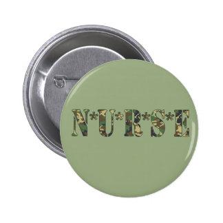 Botón de la enfermera de Camo Pins