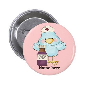 Botón de la enfermera del chirrido pin redondo de 2 pulgadas