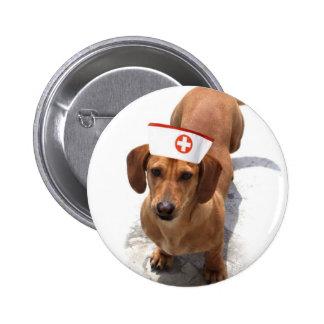 Botón de la enfermera del Dachshund Pins